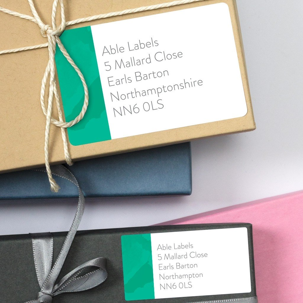 Contemporary Marble Address Labels