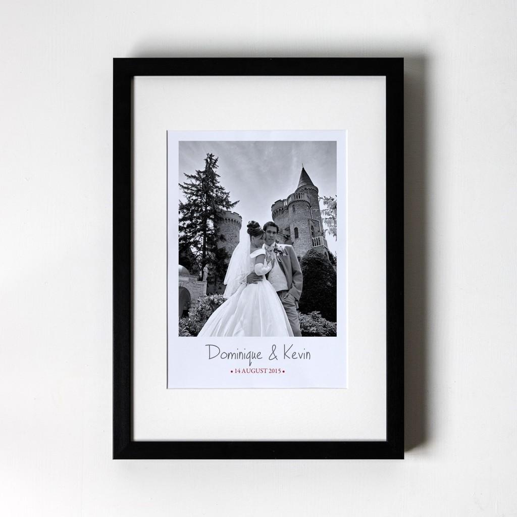 Large Photo Anniversary - Personalised Art Print (Black Frame)