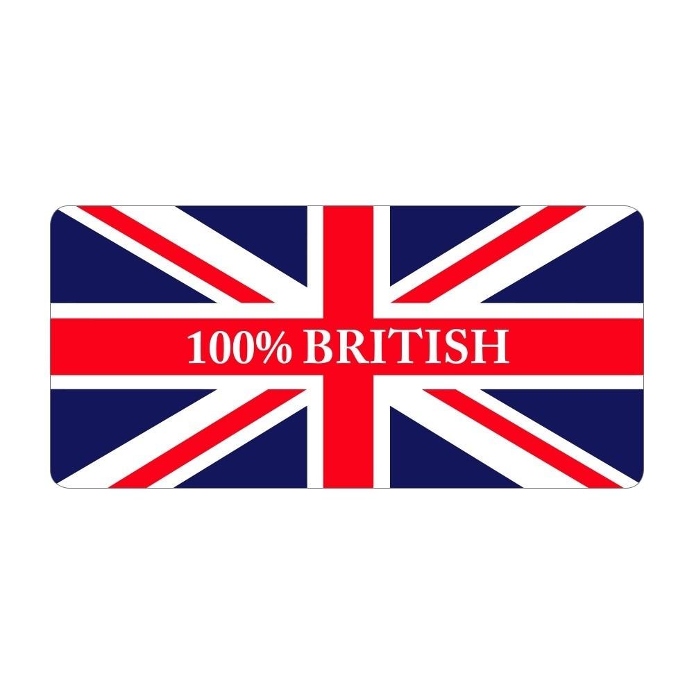 100% British - Pre Designed Labels