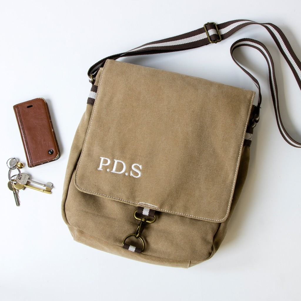 Personalised Father's Day Vintage Style Messenger Bag