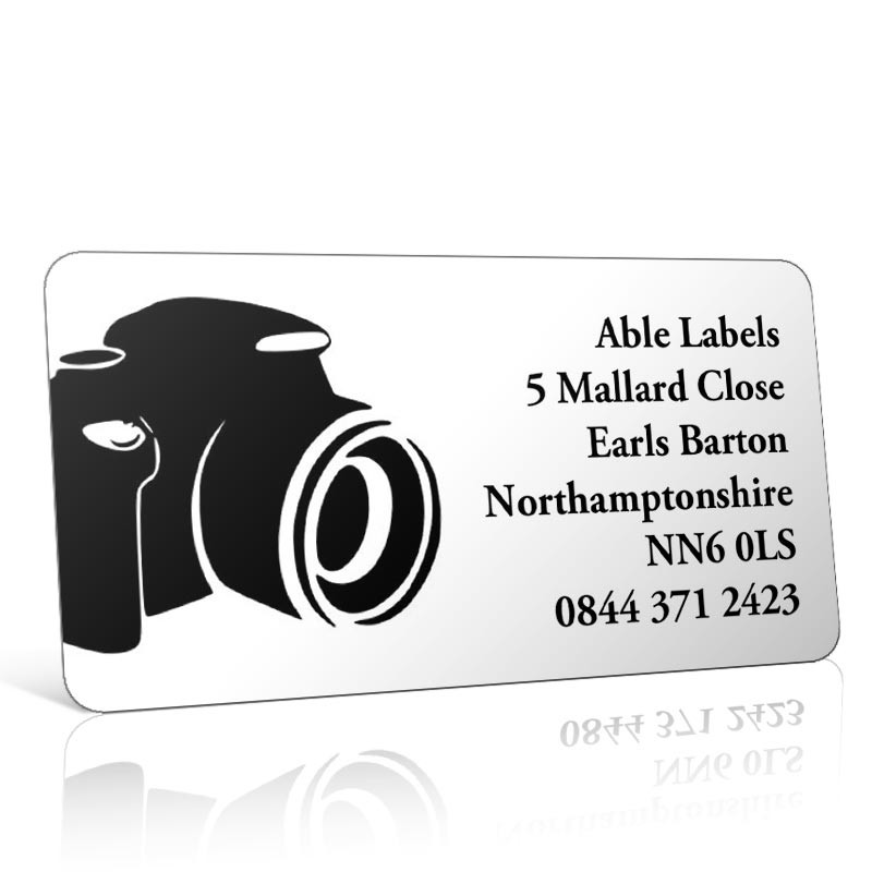Pre Designed Camera Address Label on A4 Sheets