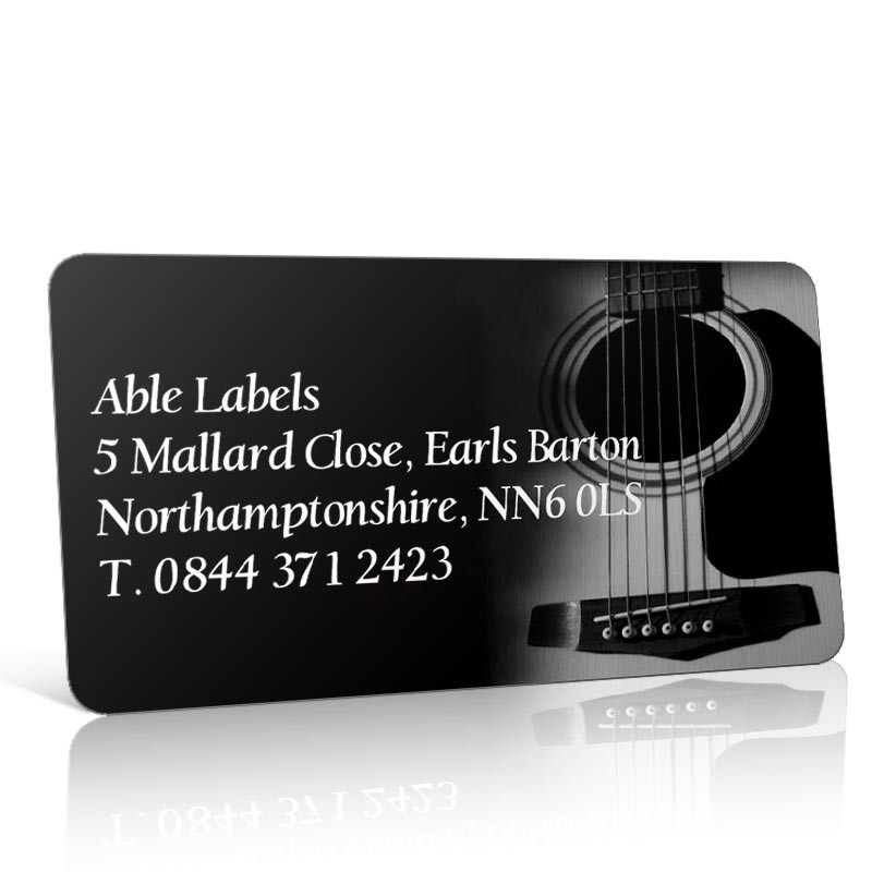 Pre Designed Guitar Address Label on A4 Sheets