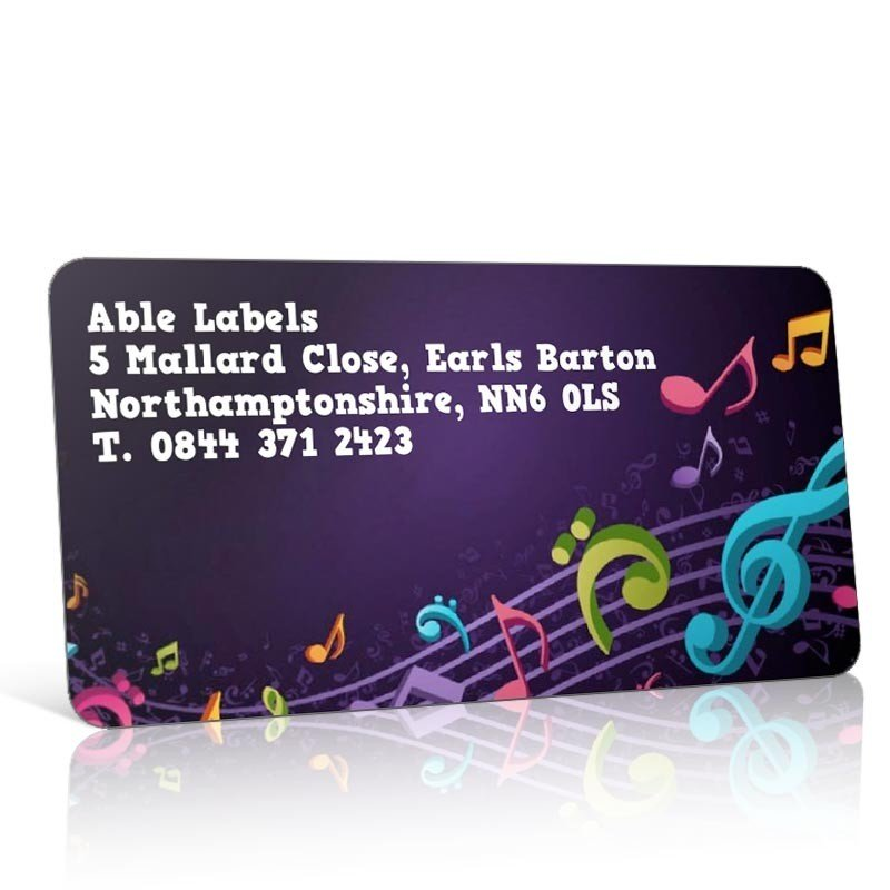 Pre Designed Music Notes Address Label on A4 Sheets