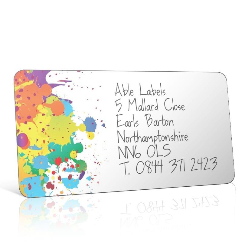 Pre Designed Paint Splats Address Label on A4 Sheets