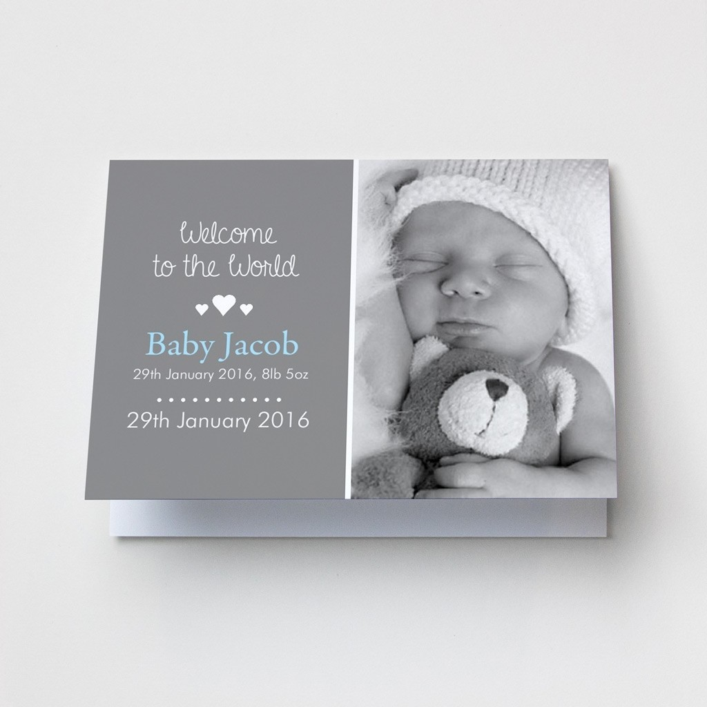 Baby Photo Announcement Cards – Landscape