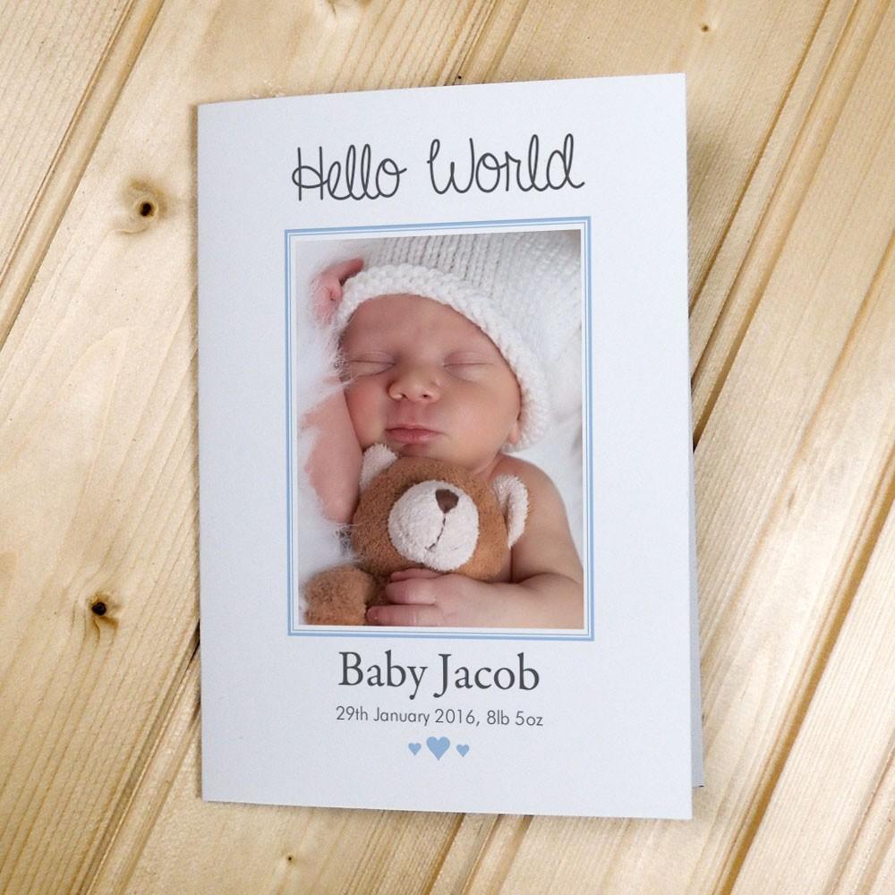 Baby Photo Announcement Cards – Portrait