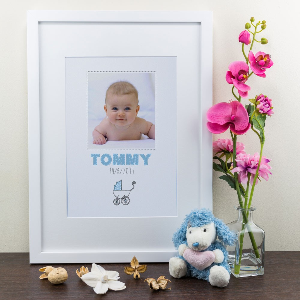 New Born Baby Boy - Personalised Art Print