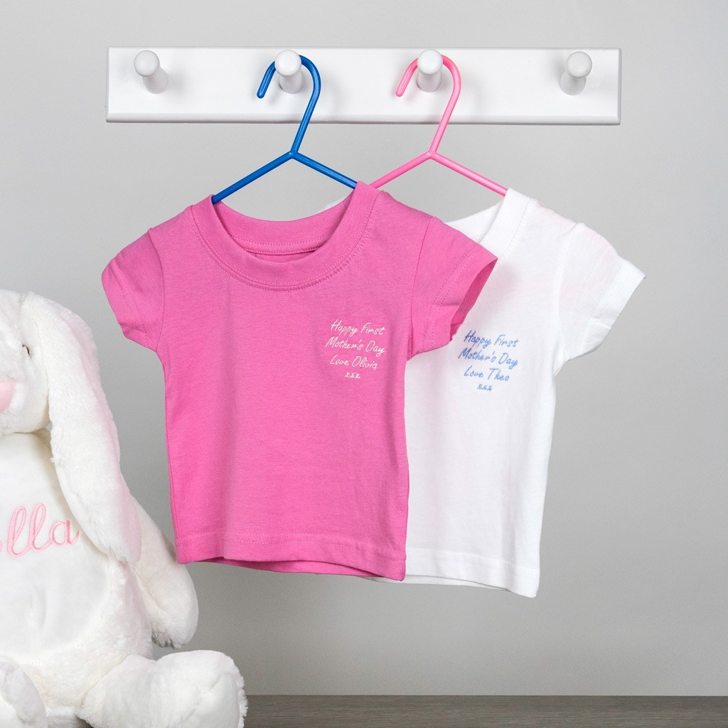 Personalised Embroidered Baby Organic T-shirt