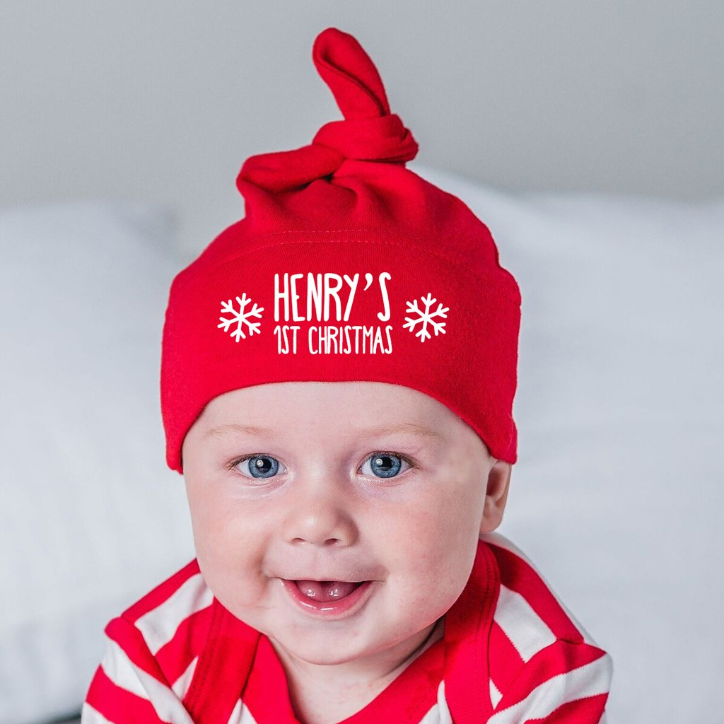Personalised Baby Hat - First Christmas