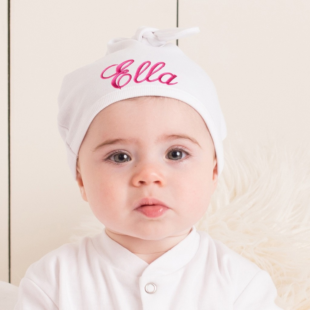 Personalised Embroidered Baby Hat