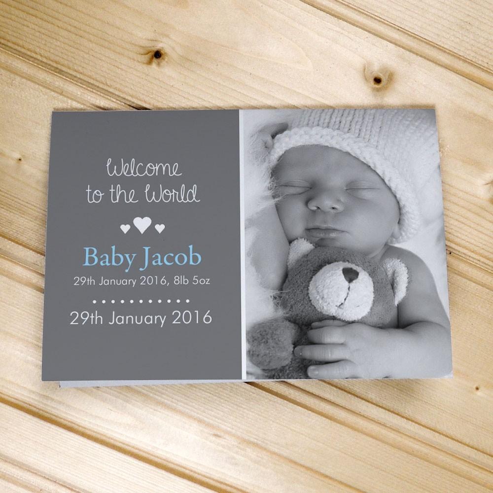 Baby Photo Announcement Cards – Landscape