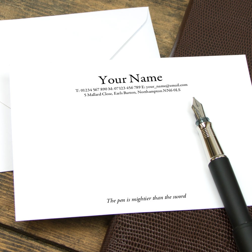 Classic Traditional Serif Correspondence Cards