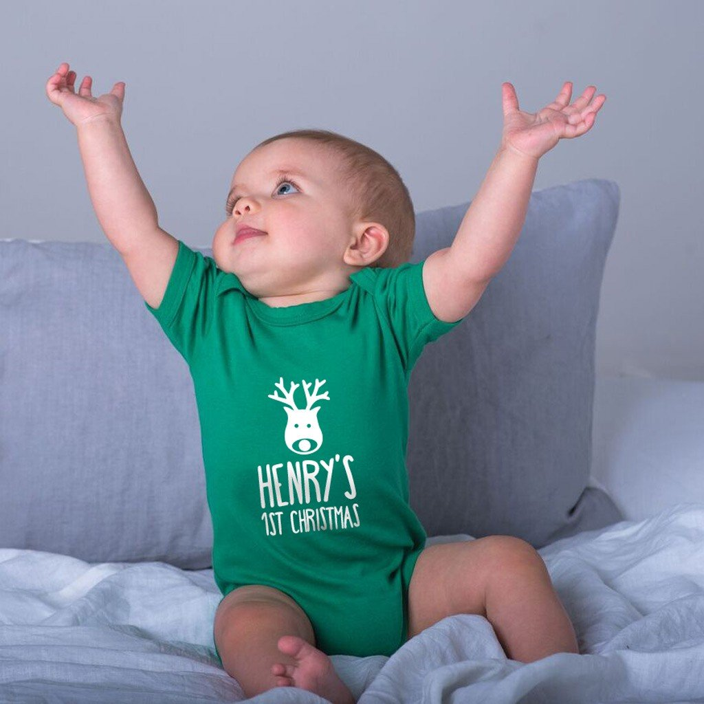 Personalised Baby Grow - First Christmas