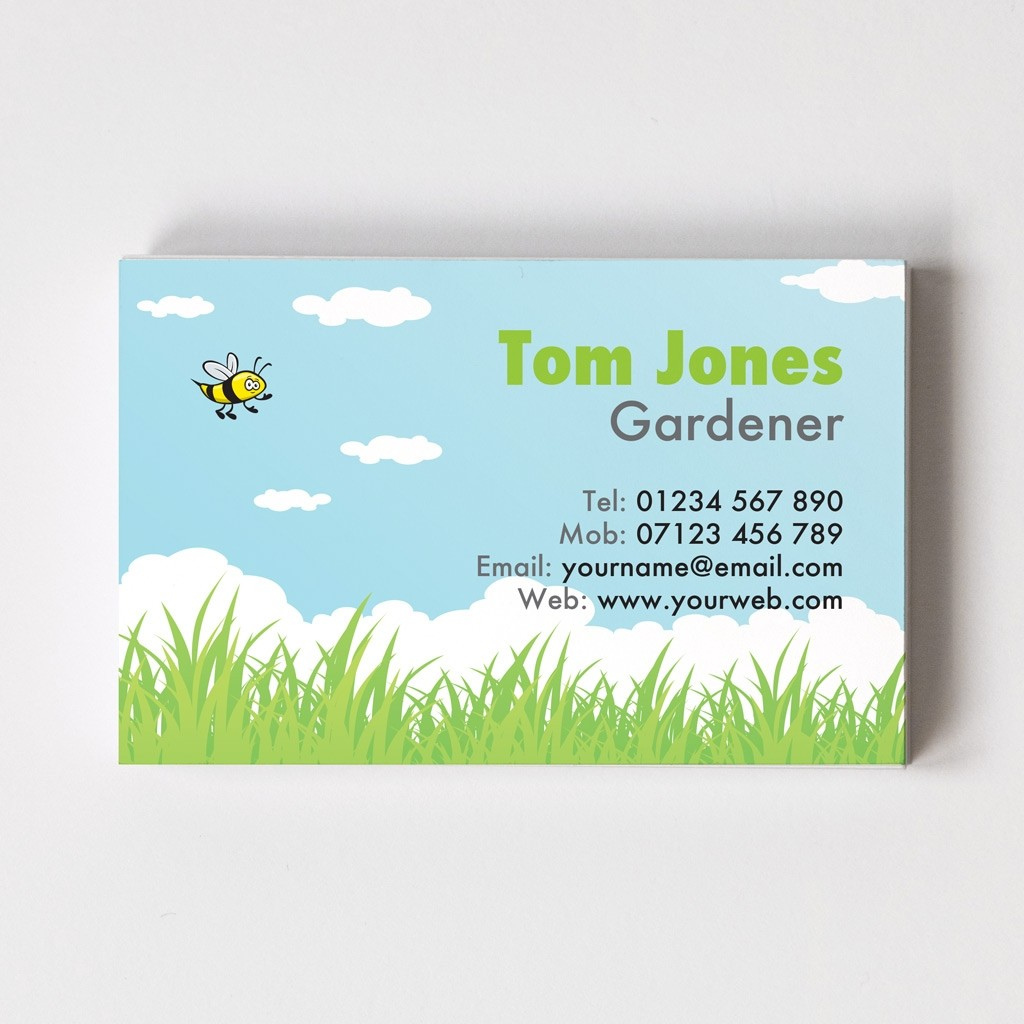 Florist/Gardener Templated Business Card 3