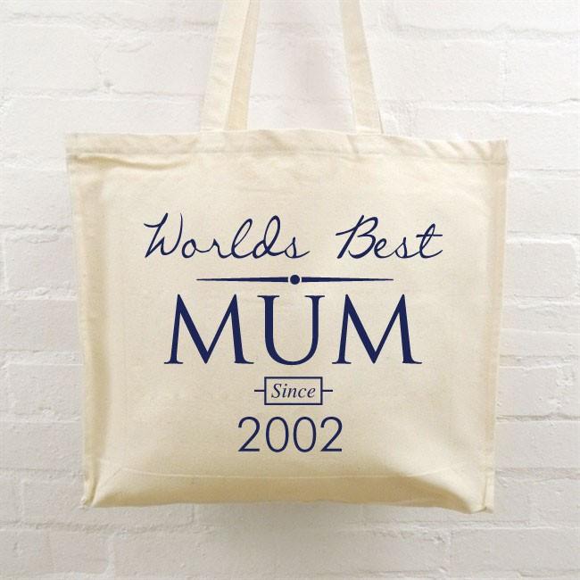 Personalised Tote Bag - World's Best Mum 2