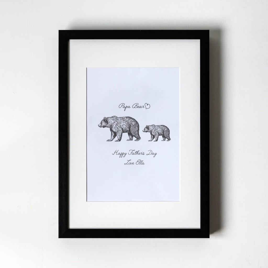 Papa Bear - Personalised Art Print