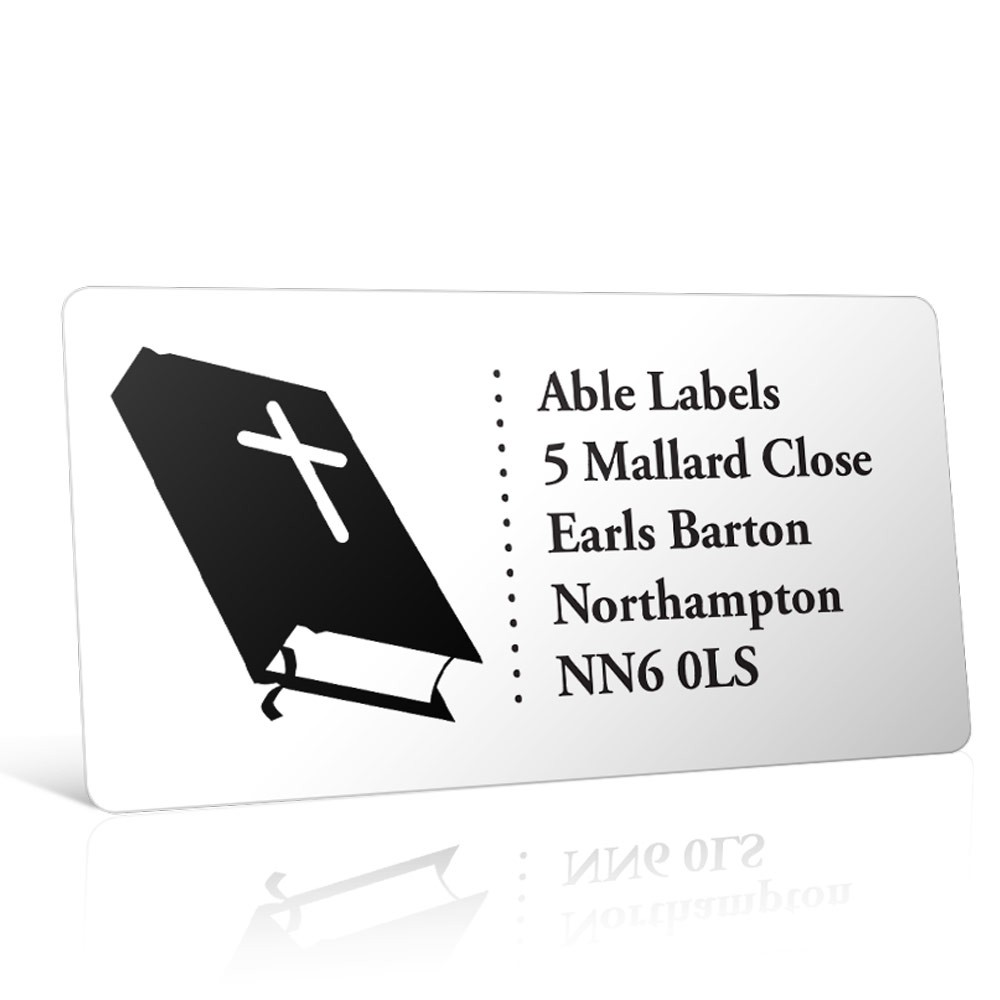 Christmas A4 Sheet Labels - Bible
