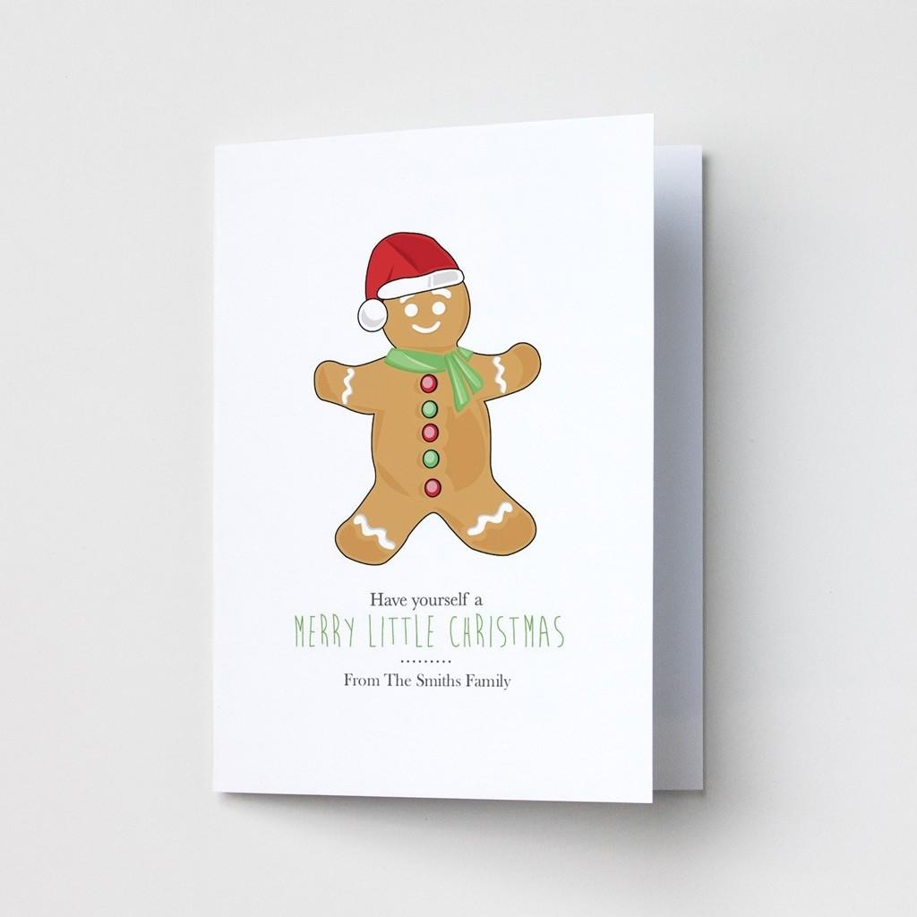 Premium Christmas Cards - Gingerbread Man