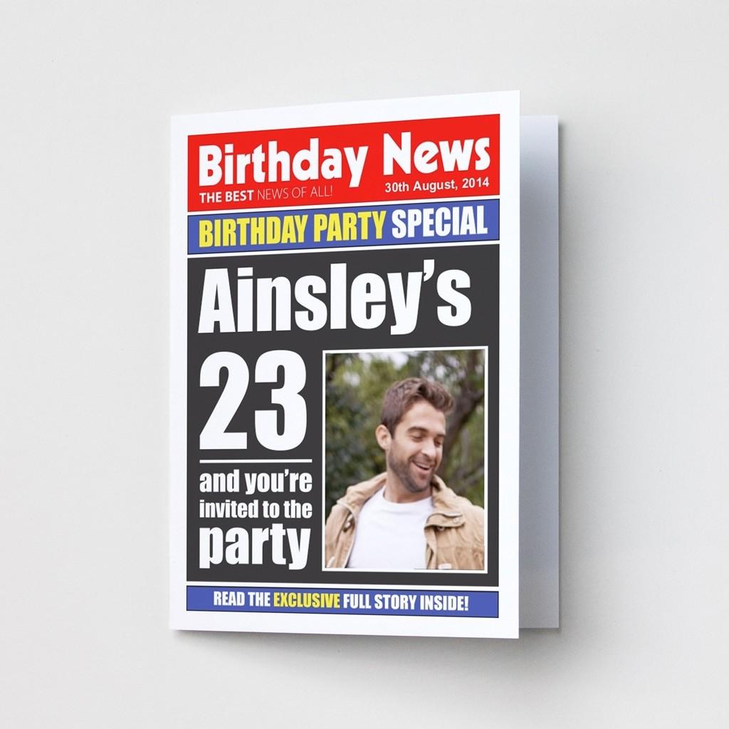 Birthday News - Party Invitations
