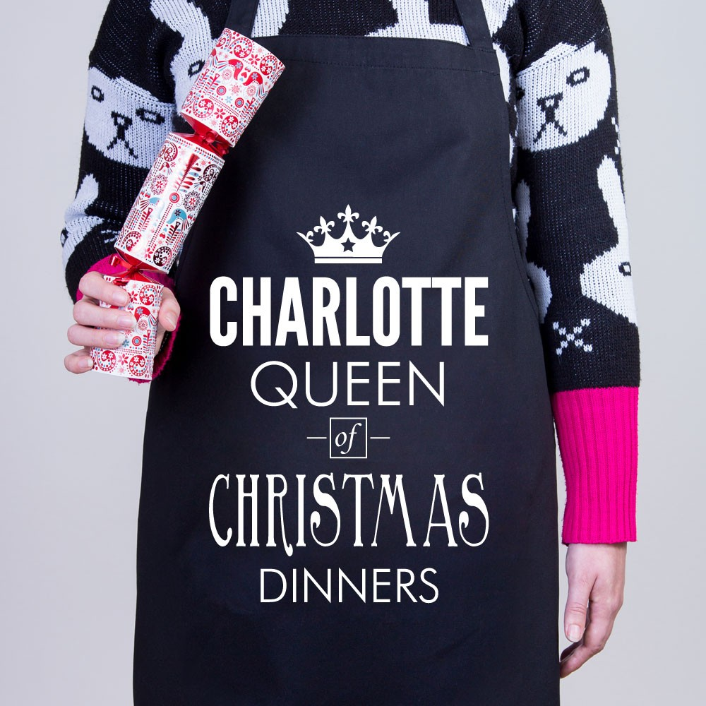 Christmas Personalised Apron - Queen of Christmas Dinners