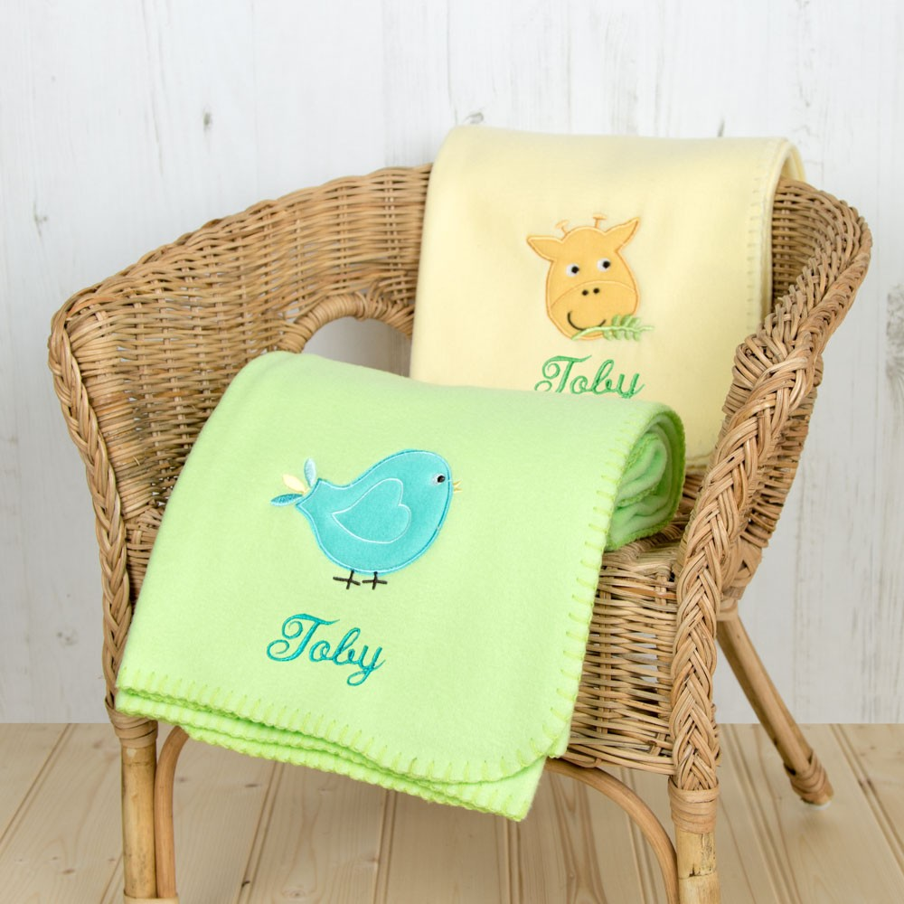 Buy One Get One Free Personalised Fleece Pram Blanket