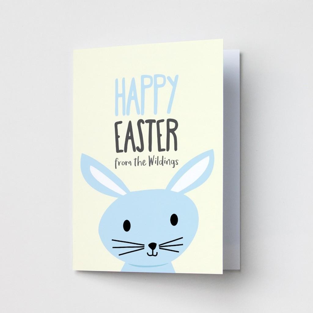 Blue Rabbit Easter Cards