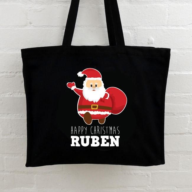 Christmas Personalised Tote Bag - Santa