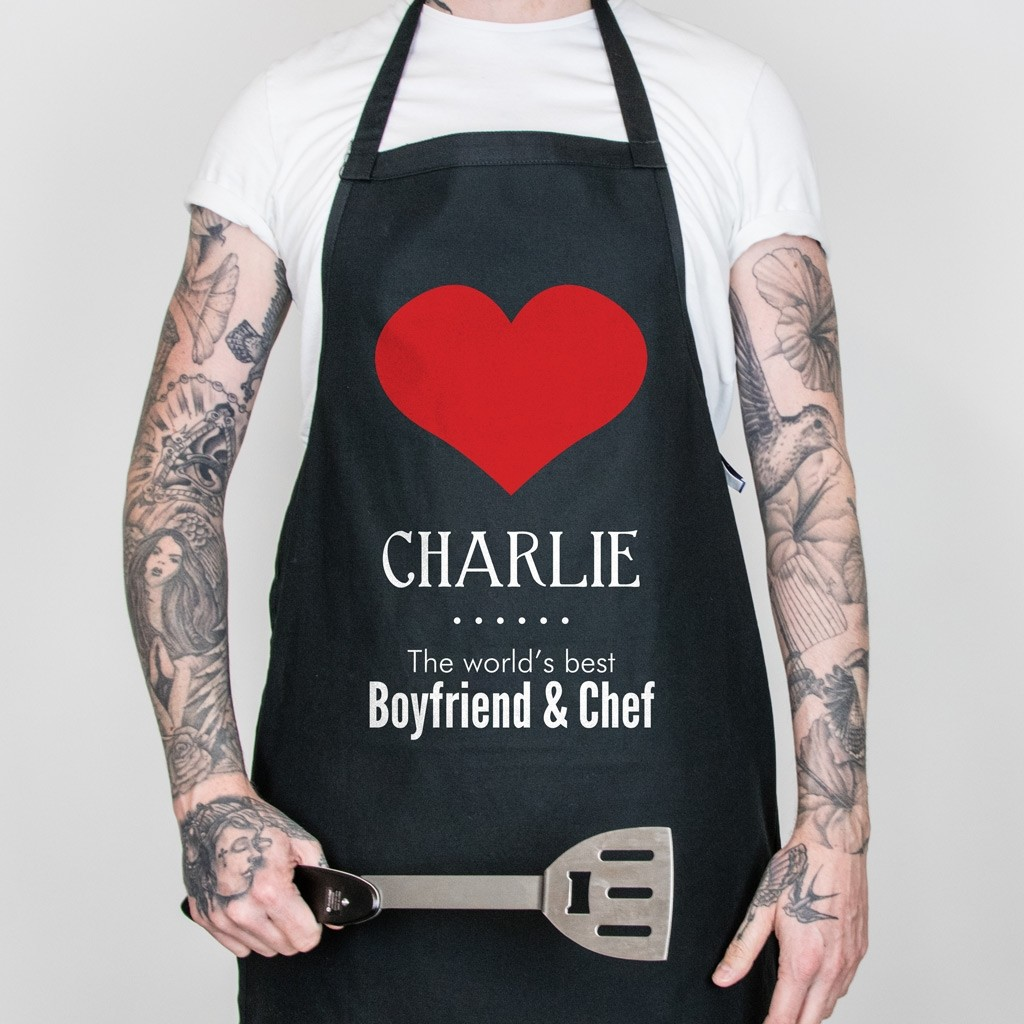Valentine's Day Personalised Apron - World's Best Style 1