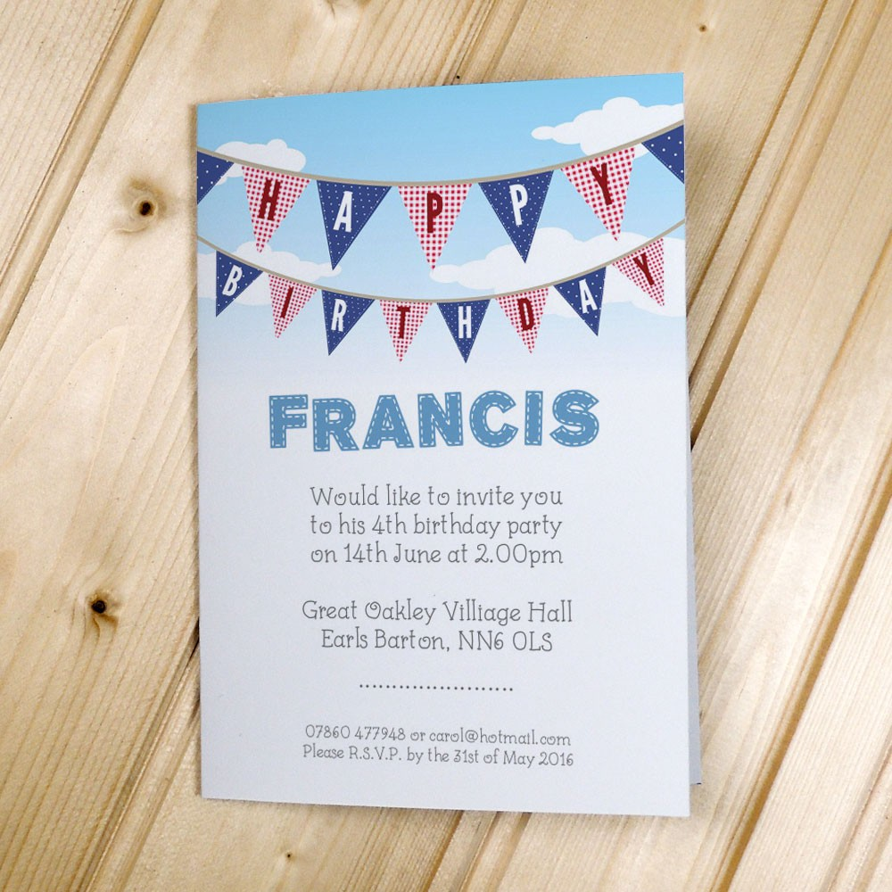 Bunting - Party Invitations