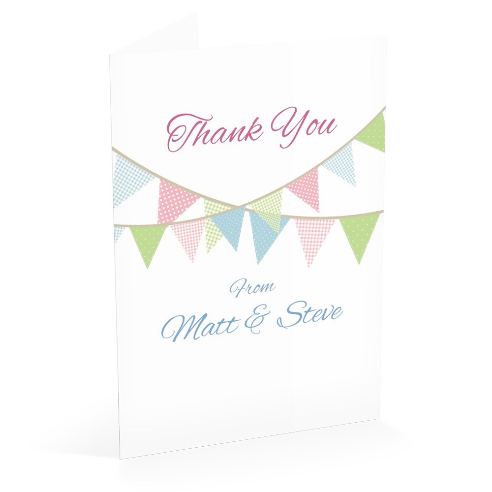 Bunting - Thank You Card