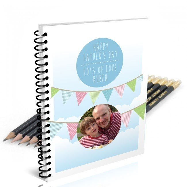 Bunting Photo Notebook & 12 Graphite Pencils