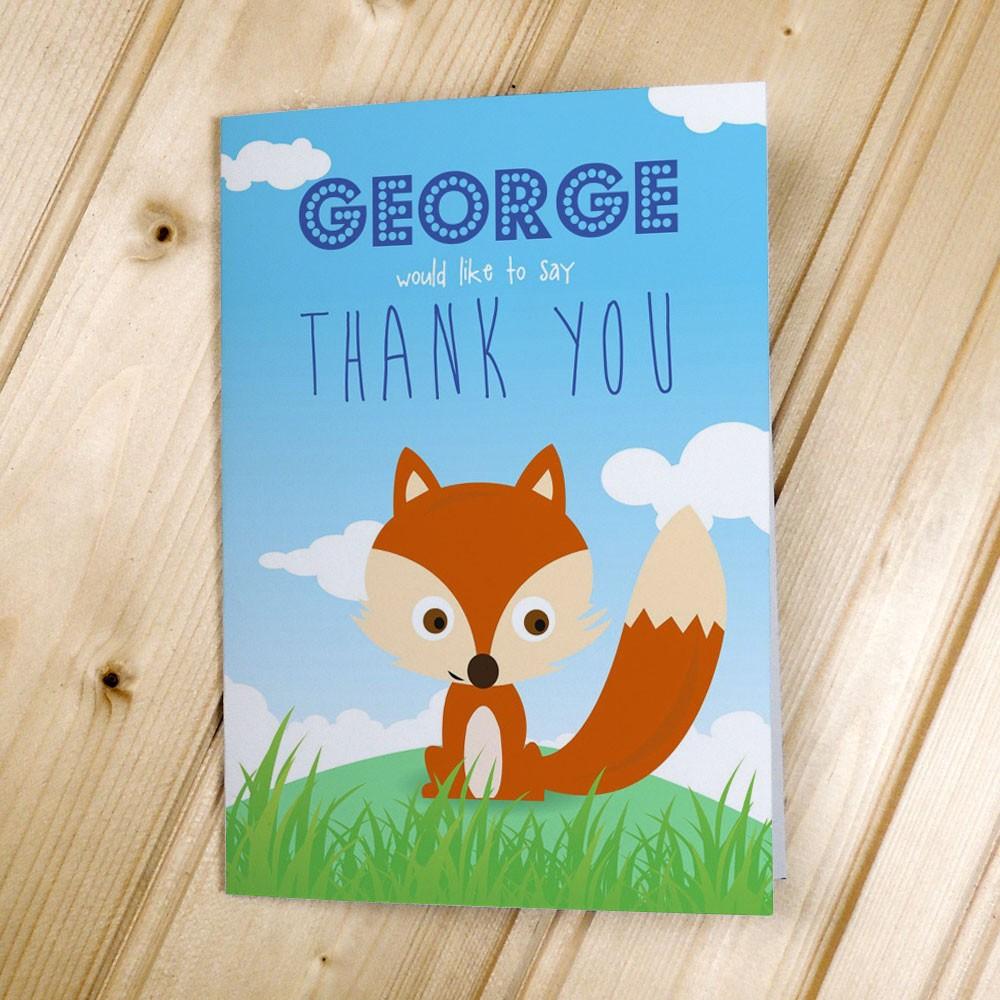 Children's Fox - Thank You Cards