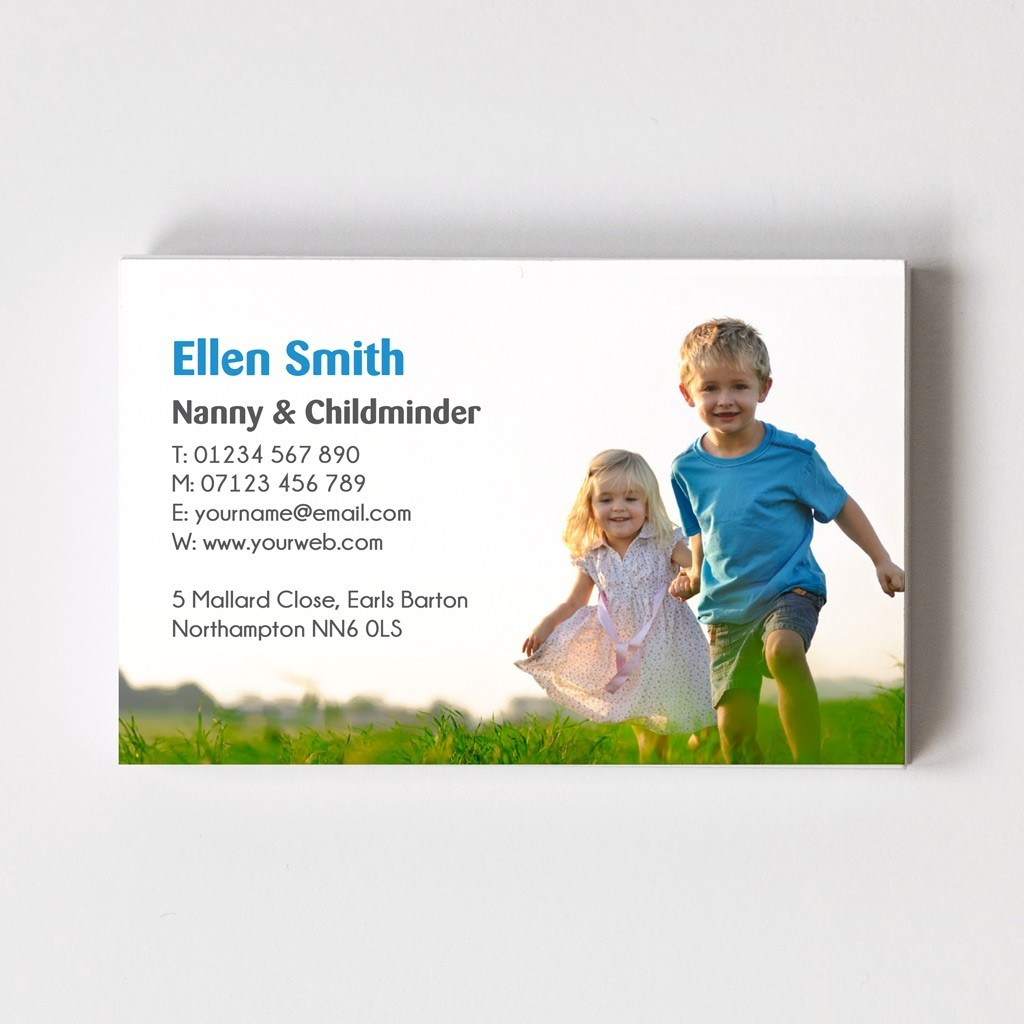 Templated Business Card Childminder 1
