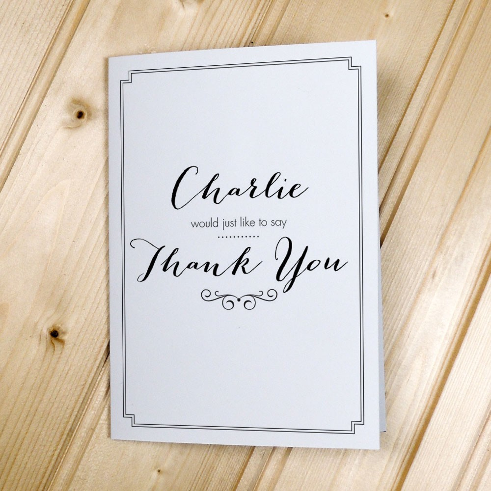Classic Border - Milestone - Thank You Cards