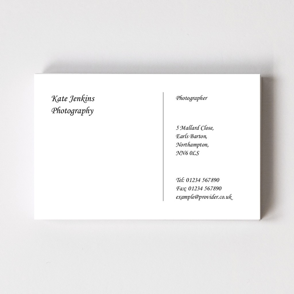 Classic Style B Business Card