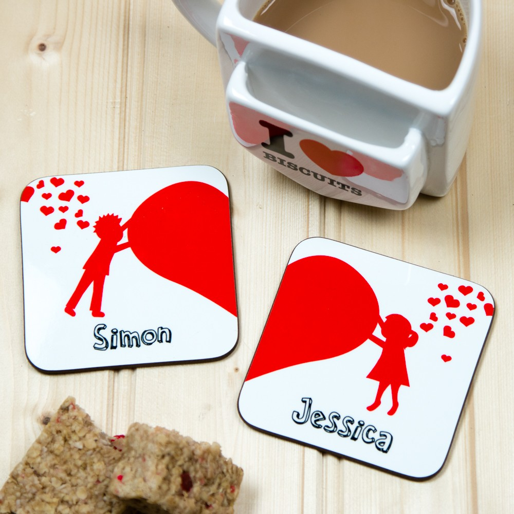 Valentine's Day Coaster Set