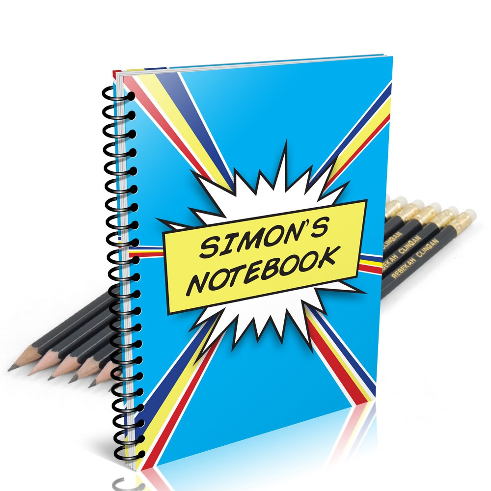 Comic Notebook Gift Set