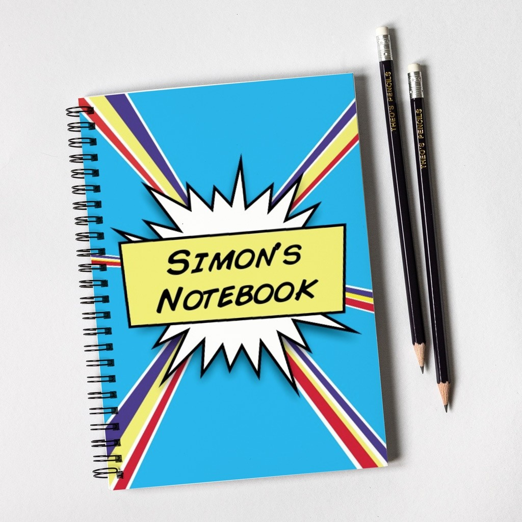 Comic Notebook Gift Set