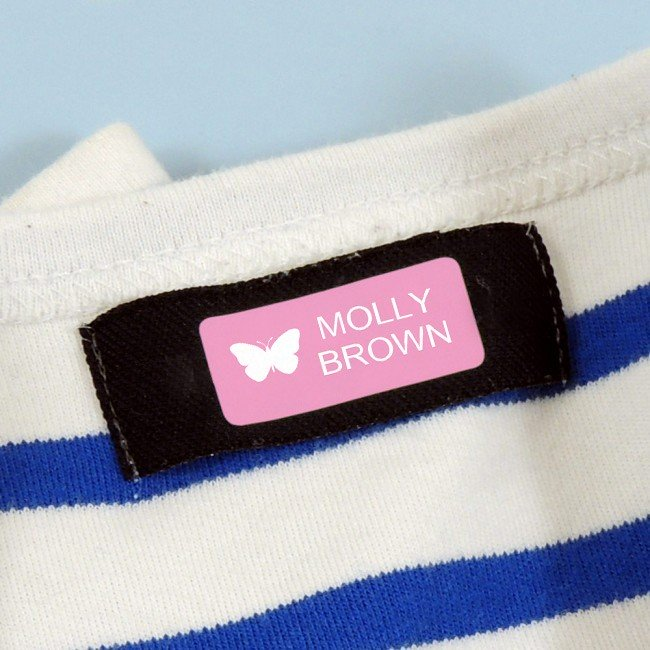 Colour Stick On Name Labels with Motif