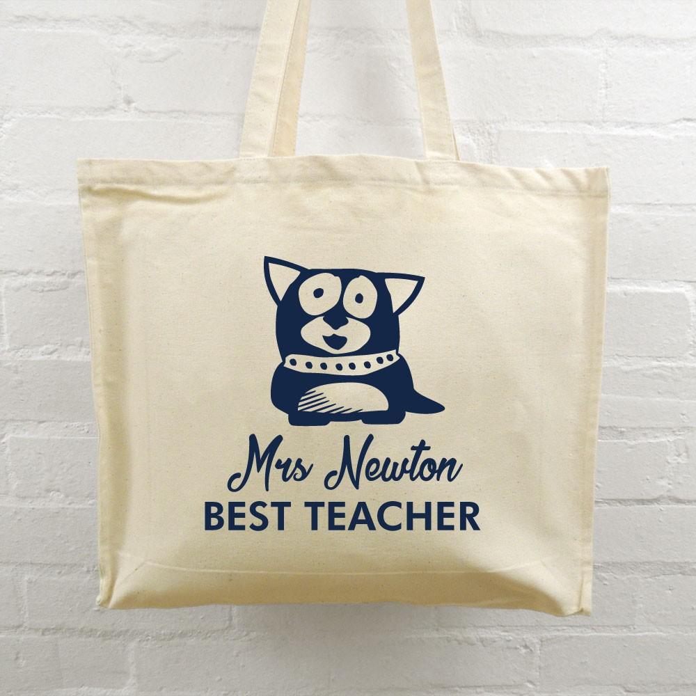 Best Teacher Tote Bag - Dog