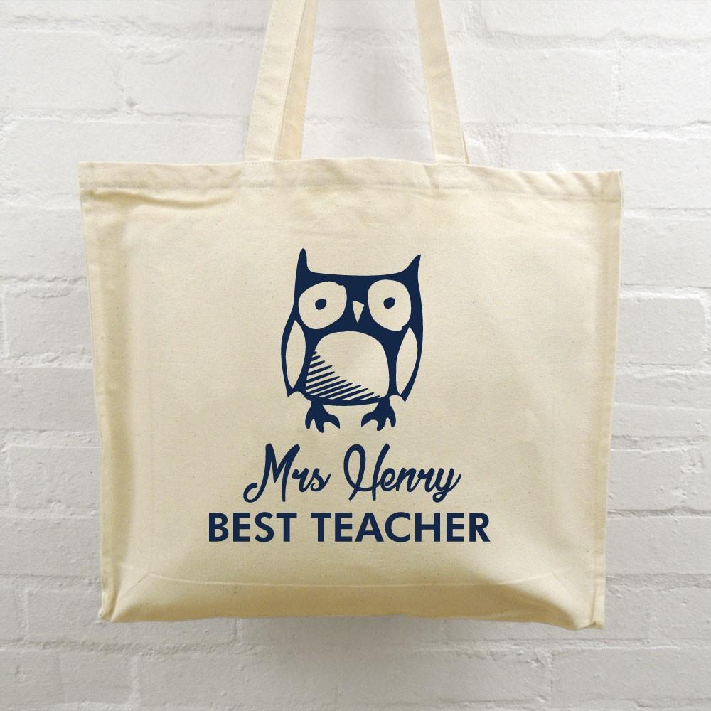Teacher Tote Bag Owl