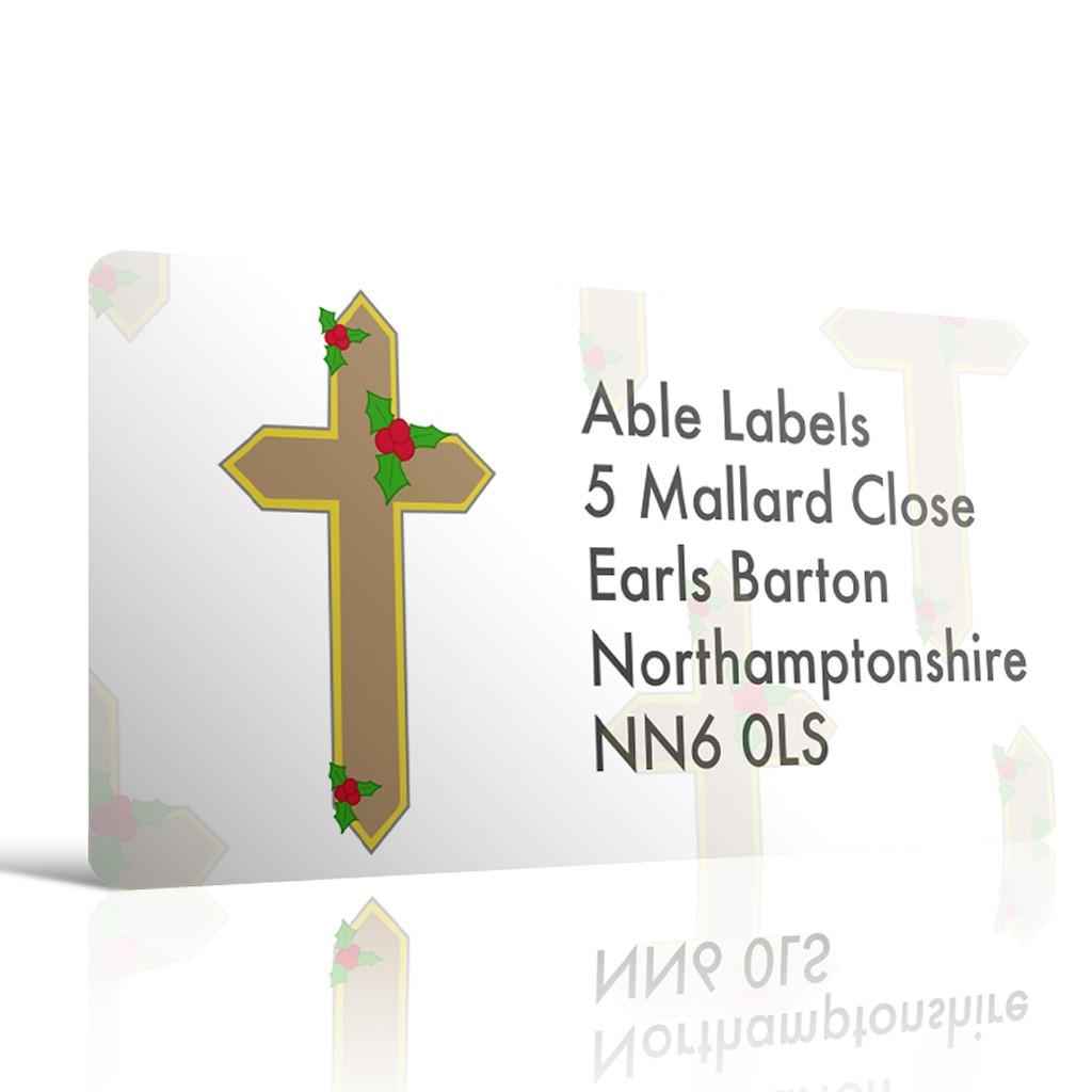Christmas A4 Sheet Labels - Cross
