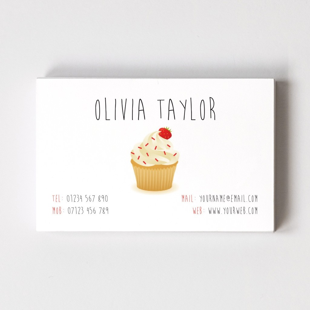 Templated Business Card Cup Cake Maker 2
