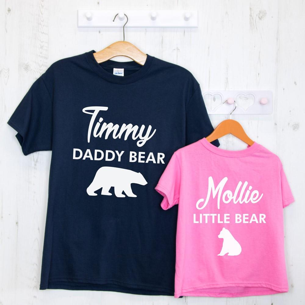 Daddy/Mummy Bear Baby Bear Family T-Shirt