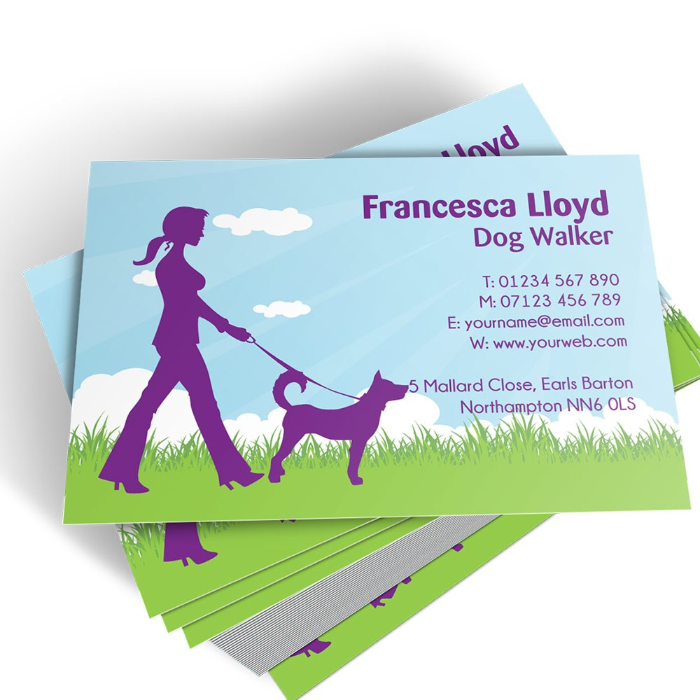 Dog walker templated business card 1 able labels templated business card dog walker 1 colourmoves