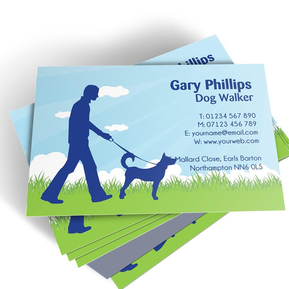 Templated Business Card Dog Walker 2
