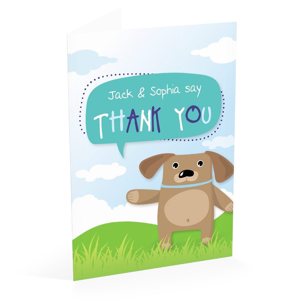 Puppy - Thank You Card