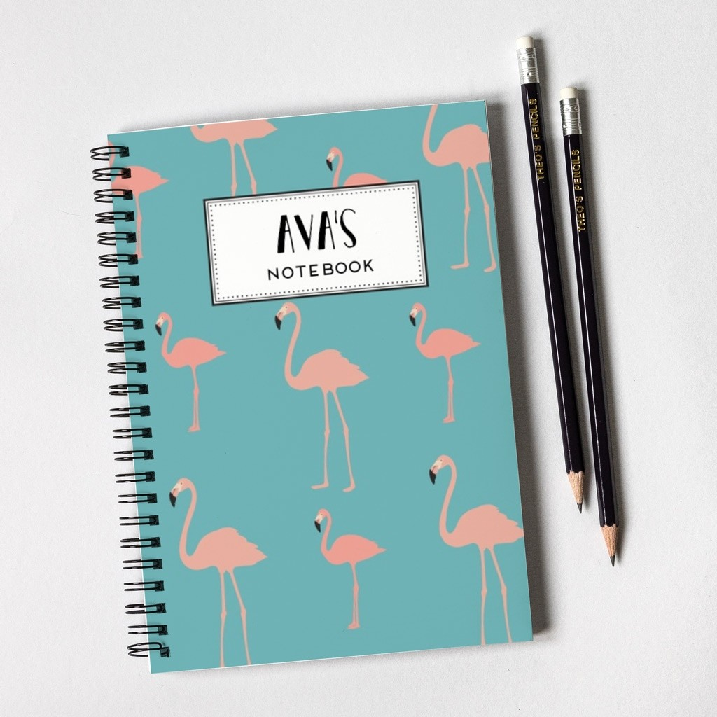 Flamingo Pattern Notebook & Pencil Gift Set