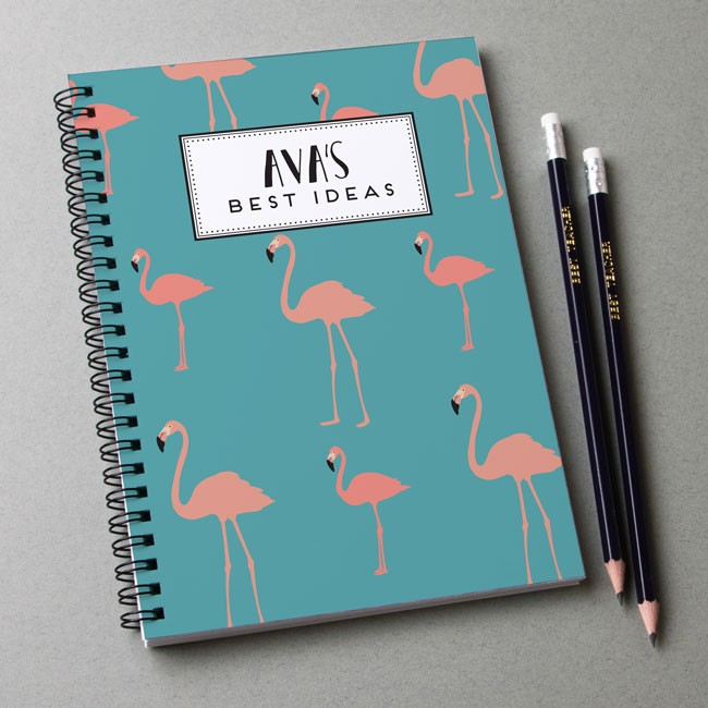 Flamingo Pattern Notebook & Pencil Gift Set