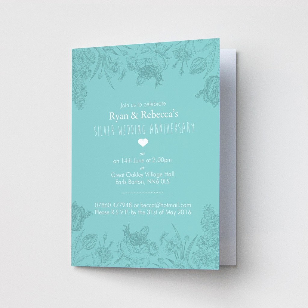 Floral Anniversary - Party Invitations